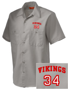Sacred Heart School Vikings Embroidered Men's Cornerstone Industrial Short Sleeve Work Shirt