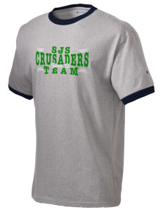 St. Joseph School Crusaders Champion Men's Ringer T-Shirt