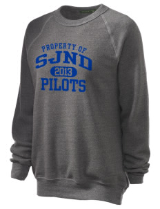 Saint Joseph Notre Dame High School Pilots Unisex Alternative Eco-Fleece Raglan Sweatshirt