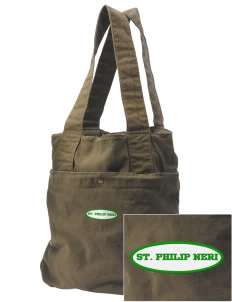 Saint Philip Neri School Spartans Embroidered Alternative The Berkeley Tote