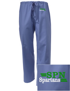 Saint Philip Neri School Spartans Embroidered Scrub Pants