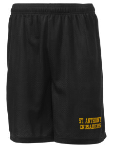 "Saint Anthony School Crusaders Men's Mesh Shorts, 7-1/2"" Inseam"