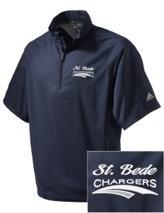 Saint Bede School Chargers Embroidered adidas Men's ClimaProof Wind Shirt
