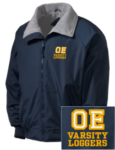 Onalaska Elementary Middle School Loggers Embroidered Men's Fleece-Lined Jacket