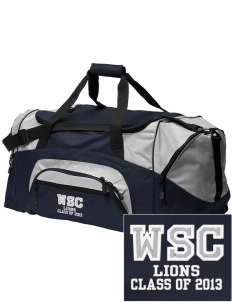 West Seattle Christian School Lions Embroidered Colorblock Duffel Bag