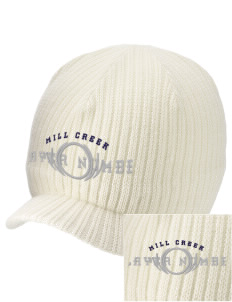 Mill Creek Middle School Bulldogs Embroidered Knit Beanie with Visor