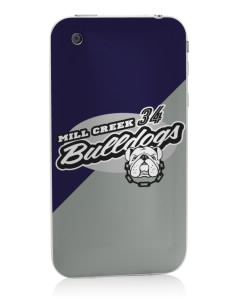 Mill Creek Middle School Bulldogs Apple iPhone 3G/ 3GS Skin
