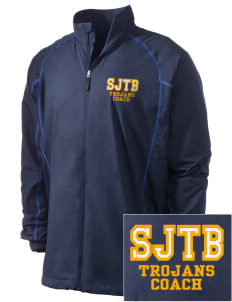 Saint John The Baptist School Trojans Embroidered Men's Nike Golf Full Zip Wind Jacket