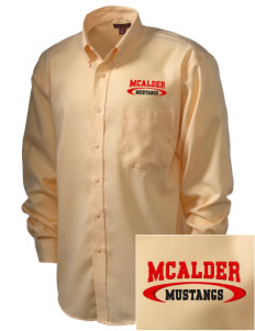 McAlder Elementary School Mustangs  Embroidered Men's Nailhead Non-Iron Button-Down