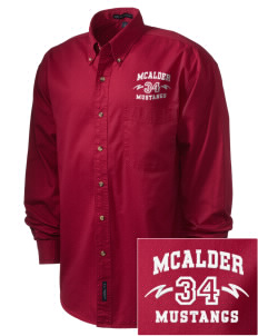 McAlder Elementary School Mustangs Embroidered Men's Twill Shirt
