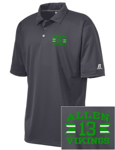 Allen Elementary School Vikings Embroidered Russell Coaches Core Polo Shirt
