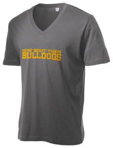 Saint Bernadette School Bulldogs Alternative Men's 3.7 oz Basic V-Neck T-Shirt