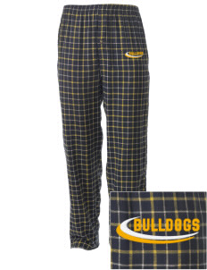 Saint Bernadette School Bulldogs Embroidered Men's Button-Fly Collegiate Flannel Pant