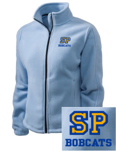 Saint Peter School Bobcats Embroidered Women's Fleece Full-Zip Jacket