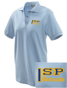 Saint Peter School Bobcats Embroidered Women's Pique Polo