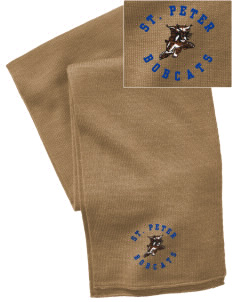 Saint Peter School Bobcats  Embroidered Knitted Scarf