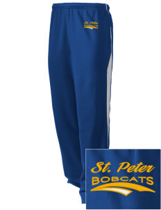 Saint Peter School Bobcats Embroidered Holloway Men's Pivot Warm Up Pants