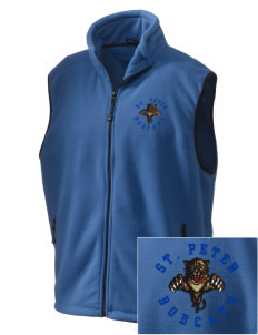 Saint Peter School Bobcats Embroidered Unisex Wintercept Fleece Vest