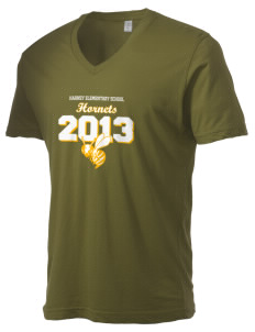 Harney Elementary School Hornets Alternative Men's 3.7 oz Basic V-Neck T-Shirt