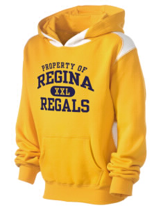 Regina High School Regals Kid's Pullover Hooded Sweatshirt with Contrast Color