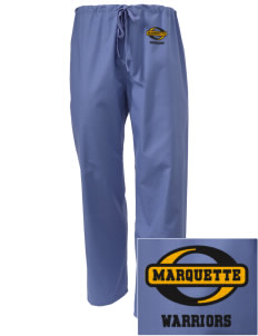 Marquette High School Warriors Embroidered Scrub Pants