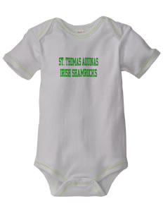 Saint Thomas Aquinas School Irish Shamrocks Baby Zig-Zag Creeper