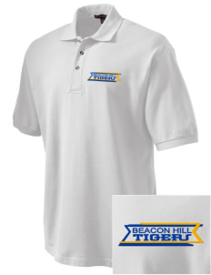 Beacon Hill Elementary School Tigers Embroidered Tall Men's Pique Polo