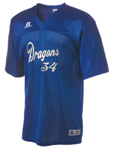 Brighton Elementary School Dragons  Russell Men's Replica Football Jersey