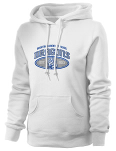 Brighton Elementary School Dragons Russell Women's Pro Cotton Fleece Hooded Sweatshirt