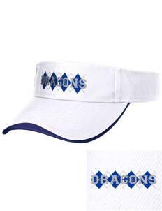 Brighton Elementary School Dragons Embroidered Binding Visor