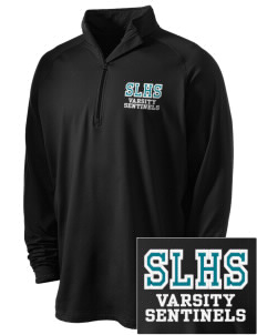 Spanaway Lake High School Sentinels Embroidered Men's Stretched Half Zip Pullover