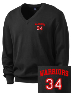 King's West School Warriors Embroidered Men's V-Neck Sweater