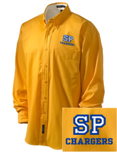 Saint Peter School Chargers Embroidered Men's Easy-Care Shirt