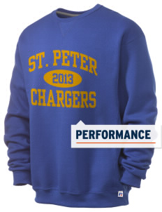 Saint Peter School Chargers  Russell Men's Dri-Power Crewneck Sweatshirt