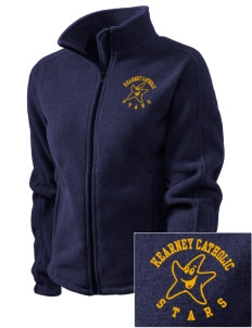 Kearney Catholic High School Stars Embroidered Women's Fleece Full-Zip Jacket