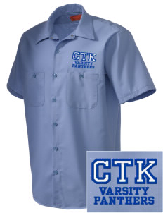 Christ The King School Panthers Embroidered Men's Cornerstone Industrial Short Sleeve Work Shirt