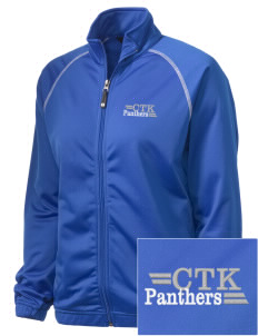 Christ The King School Panthers Embroidered Holloway Women's Attitude Warmup Jacket