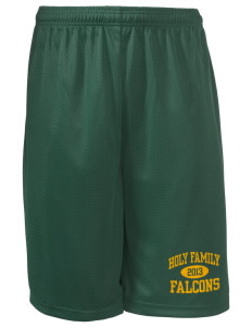 "Holy Family School Falcons Long Mesh Shorts, 9"" Inseam"