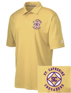Saint Catherine School Crusaders Embroidered Russell Coaches Core Polo Shirt