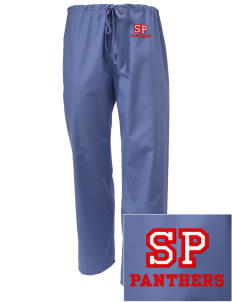 Saint Paul School Panthers Embroidered Scrub Pants