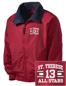 Saint Therese School All Stars Embroidered Men's Fleece-Lined Jacket