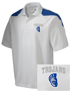 Trinity Catholic School Trojans Embroidered Holloway Men's Frequency Performance Pique Polo