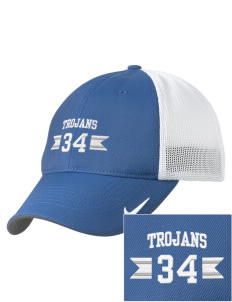 Trinity Catholic School Trojans Embroidered Nike Golf Mesh Back Cap
