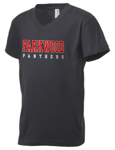 Parkwood Elementary School Panthers Kid's V-Neck Jersey T-Shirt
