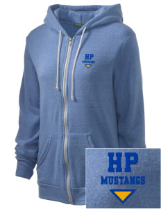 Highland Park Elementary School Mustangs Embroidered Alternative Unisex The Rocky Eco-Fleece Hooded Sweatshirt