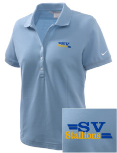 Saint Viator School Stallions Embroidered Nike Women's Pique Golf Polo