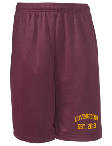 "Covington Junior High School Covington Colts Long Mesh Shorts, 9"" Inseam"
