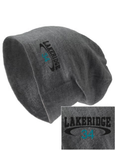 Lakeridge Elementary School Orca Whales Embroidered Slouch Beanie