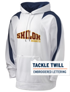 Shiloh Elementary School Hornets Holloway Men's Sports Fleece Hooded Sweatshirt with Tackle Twill