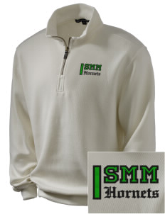 Saint Margaret Mary School Hornets Embroidered Men's 1/4-Zip Sweatshirt